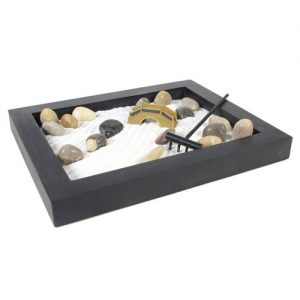 Large Black Wood Zen Garden