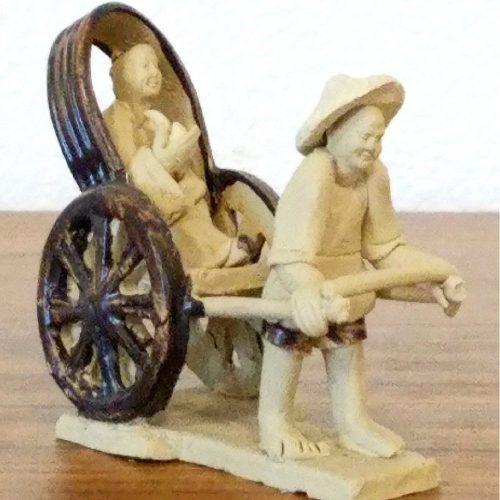 Rickshaw Figurine