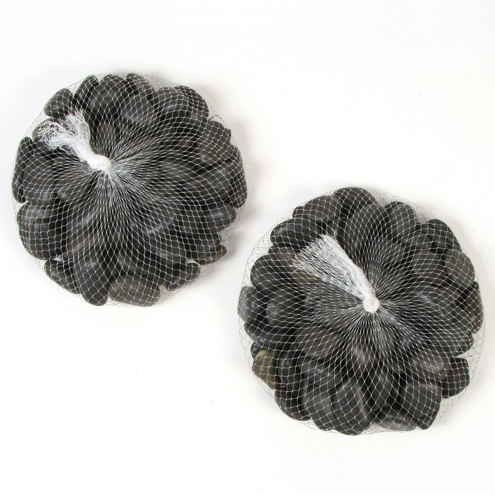 Black Decorative Pebbles