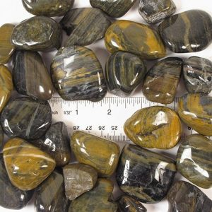 Natural Polished Tiger Stripe Stones Large