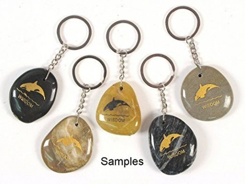 Inspirational Stone Keychain with Killer Whale – Wisdom