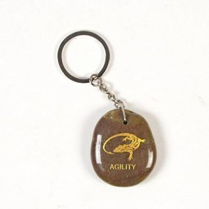 Inspirational Stone Keychain with Lizard – Agility